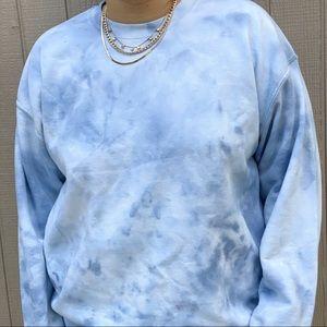 NEW Denim Blue Fall Tie Dyed Sweatshirt S-3X
